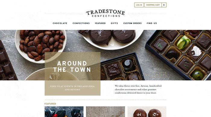 tradestoneconfections_com 44 Website Header Design Examples and What Makes Them Good
