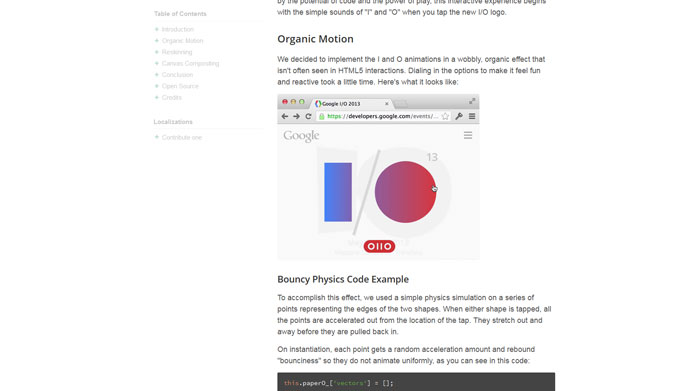 Google I/O 2013 Experiment