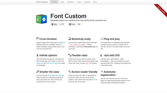 fontcustom icon font generator