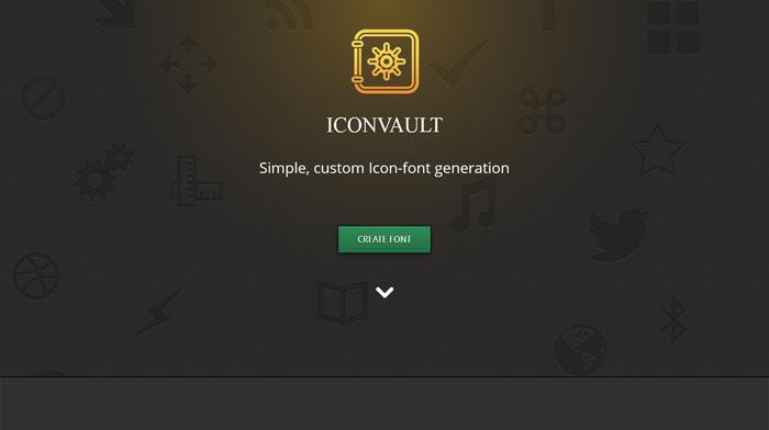 iconvault icon font generator