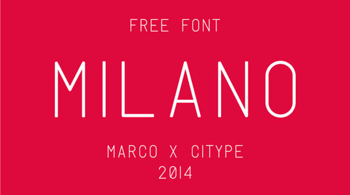 Milano Free Font A Close Look At Typography In Minimalist Web Design