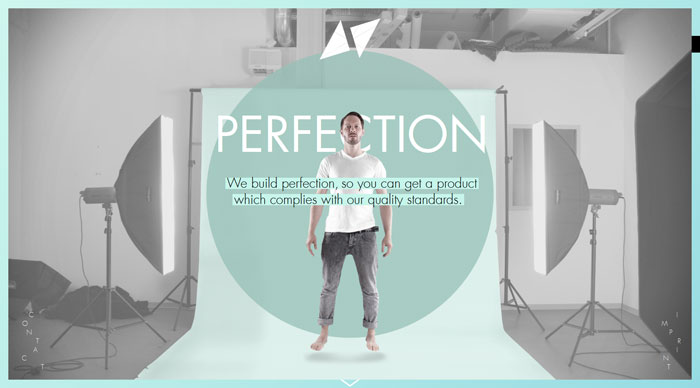 17grad.com/perfection modern website design