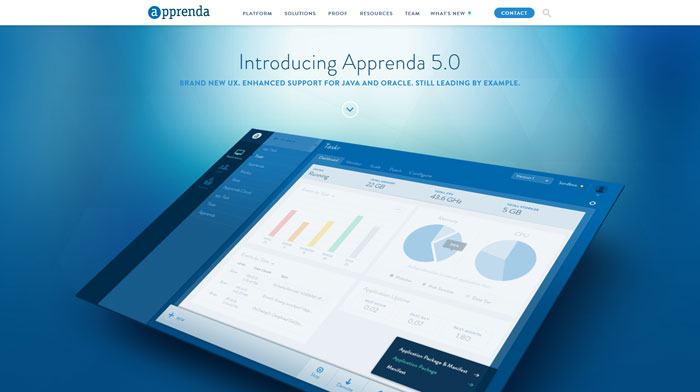 apprenda.com modern website design