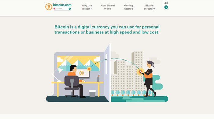 bitcoins.com modern website design