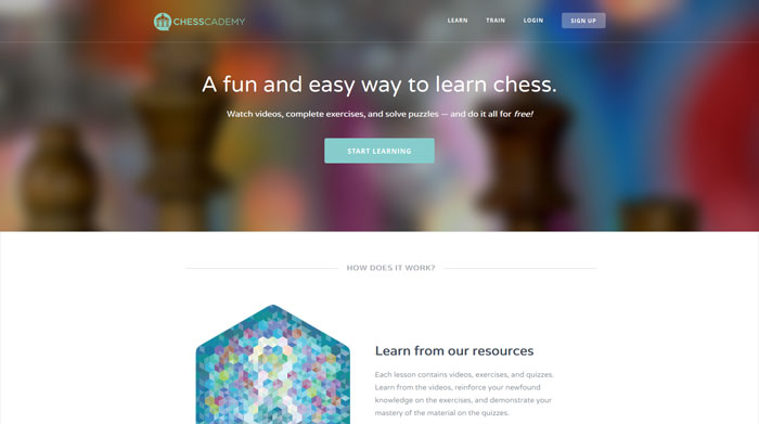 chesscademy.com modern website design