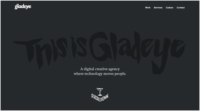 gladeye.com modern website design