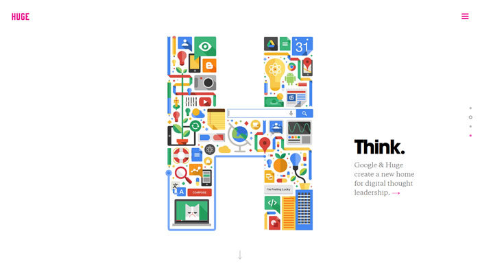 hugeinc.com modern website design