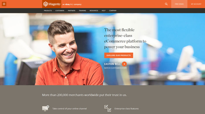 magento.com modern website design