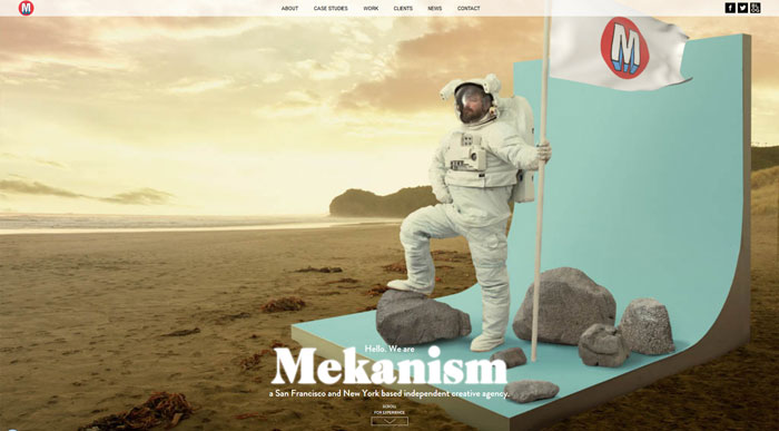 mekanism.com modern website design