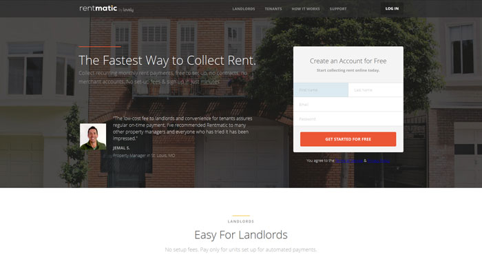 rentmatic.com modern website design