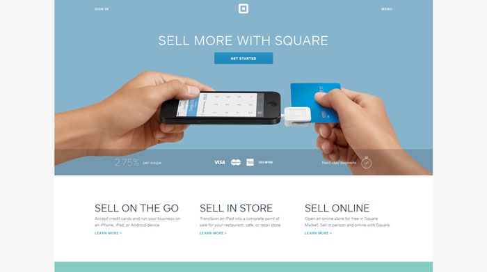 squareup.com modern website design