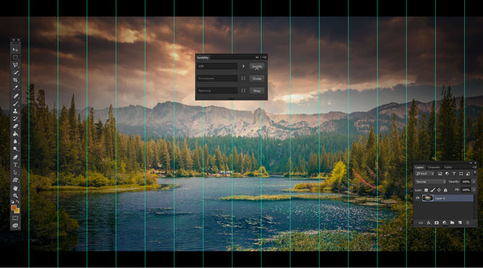 Griddify: A Tiny Photoshop Panel to Make Guides and Grids