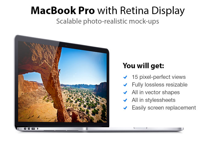 MacBook Pro - 15 Scalable Mock-ups