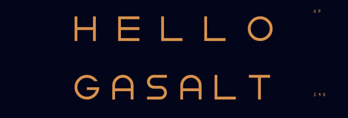 Gasalt Free font