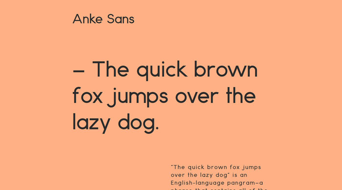 Anke Sans Free font