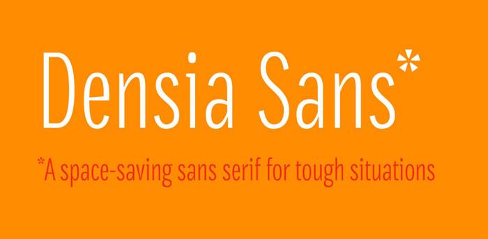 Densia Sans Free font