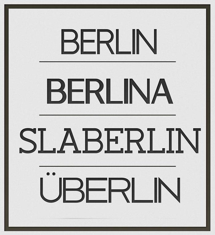 Berlin Free font