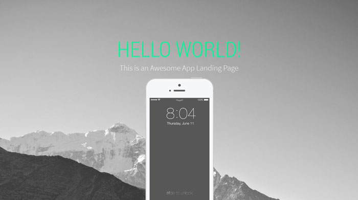 Landy-v1.0 Free Responsive HTML Template