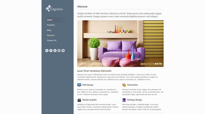Caprice Free Responsive HTML Template