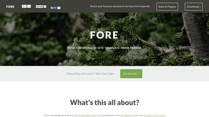 Fore Free Responsive HTML Template