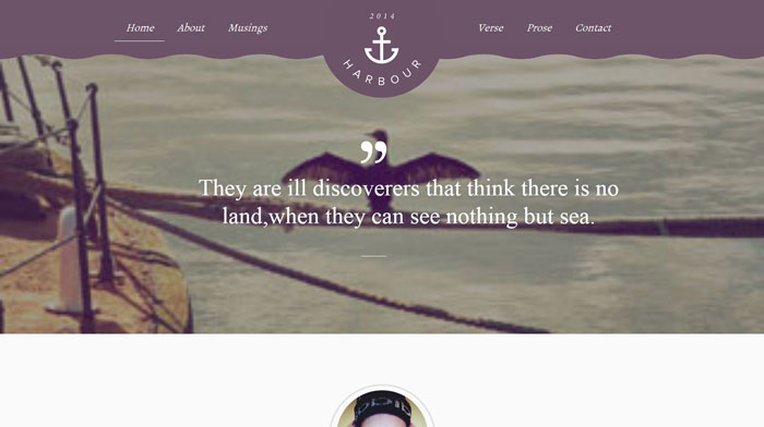 Harbour Free Responsive HTML Template