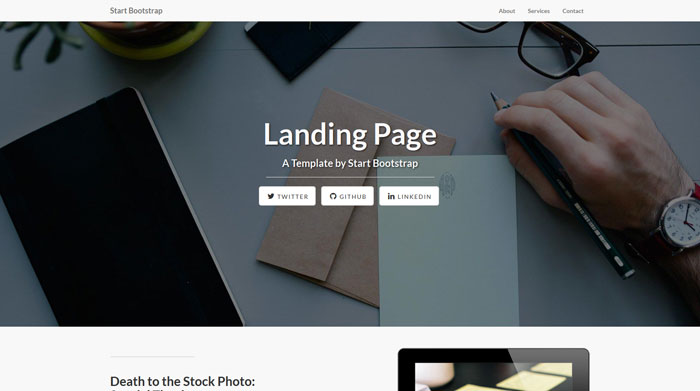Landing Page Free Responsive HTML Template