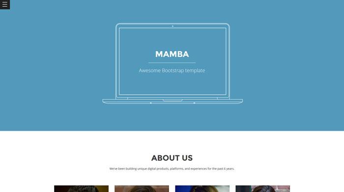Mamba Free Responsive HTML Template