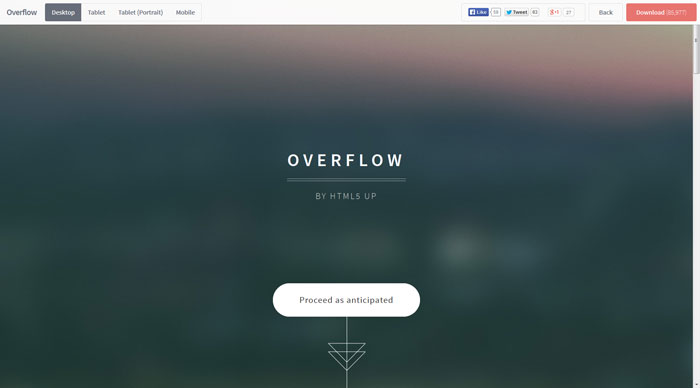 overflow Free Responsive HTML Template