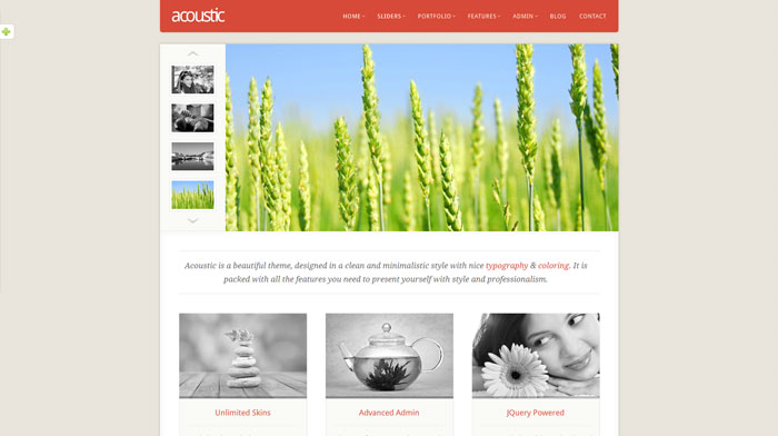 Acoustic Free Responsive HTML Template