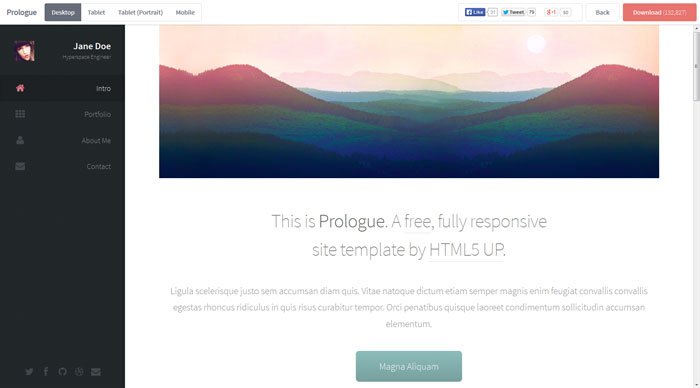 prologue Free Responsive HTML Template