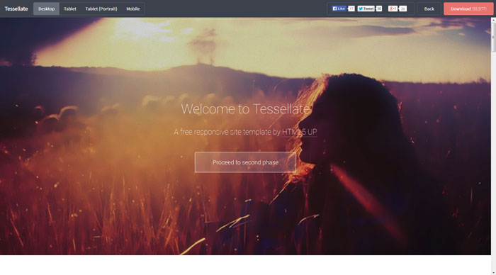 Tessellate Free Responsive HTML Template