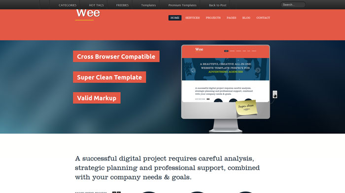 Wee Free Responsive HTML Template