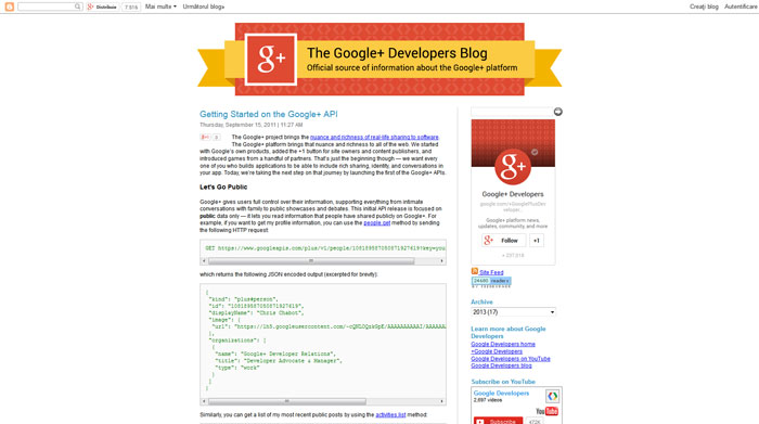 Getting Started on the Google+ API