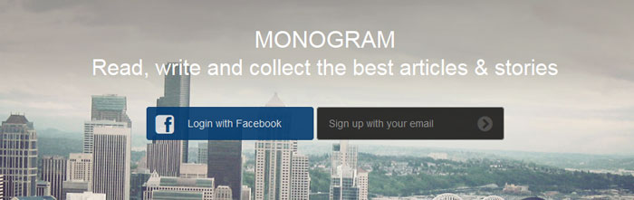 monogrammag.com Social Login Design