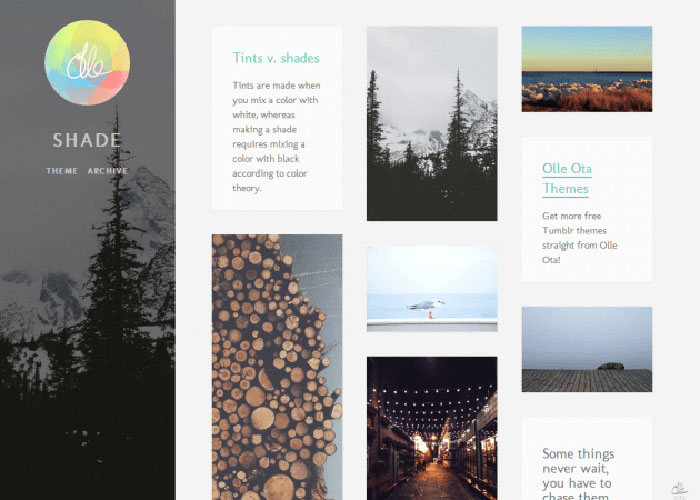 free tumblr themes with infinite scroll