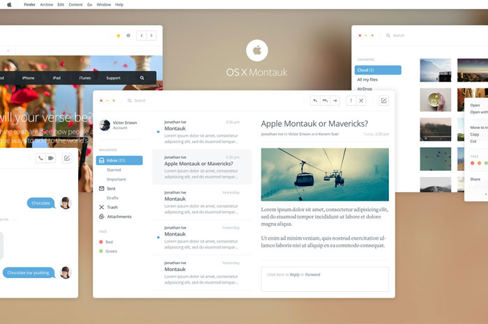 Apple OSX Montauk Unsolicited Redesign