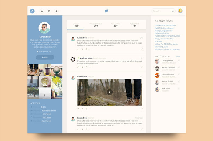 Twitter Unsolicited Redesign