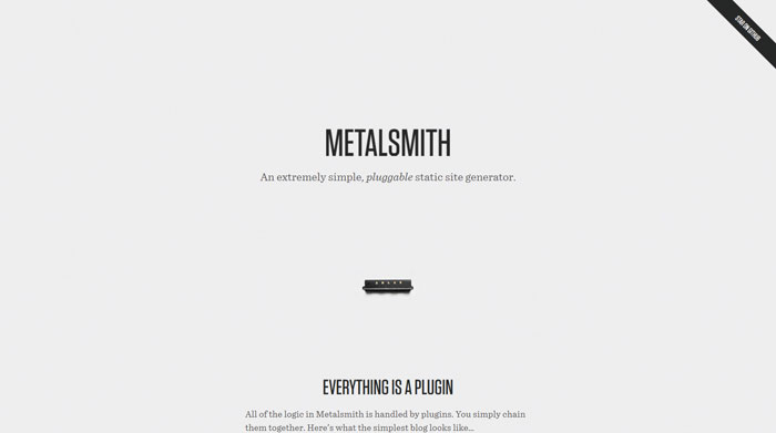 Metalsmith: simple, pluggable static site generator