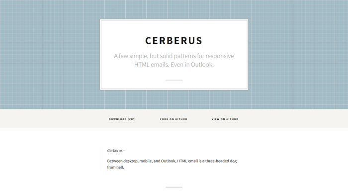 Cerberus: patterns for responsive HTML emails