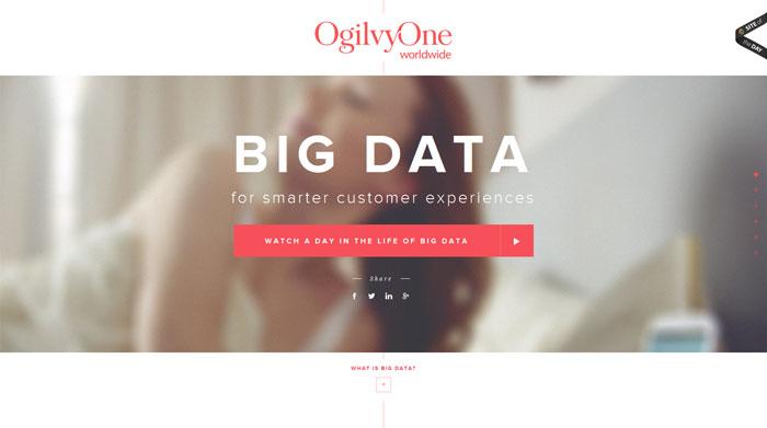 adayinbigdata.com Typography based website design
