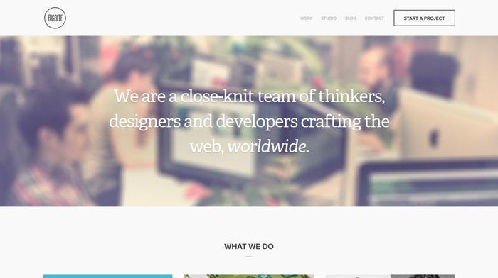 bigbitecreative.com Typography based website design