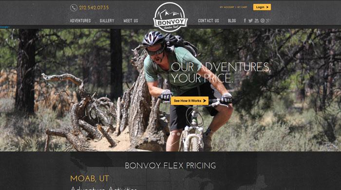 bonvoyadventuretravel.com Typography based website design