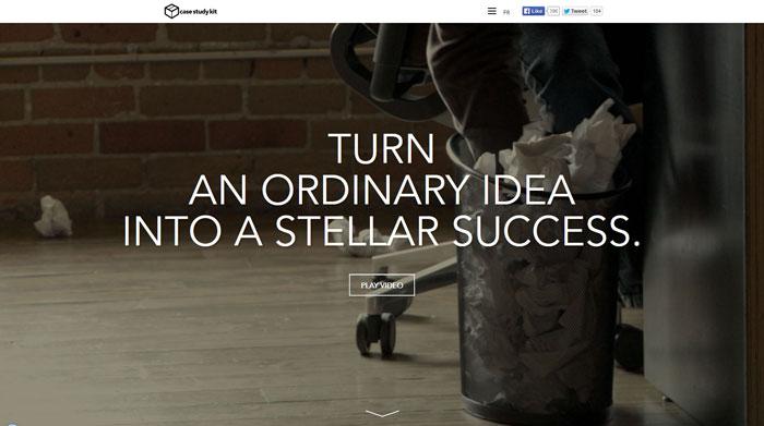 casestudykit.com Typography based website design