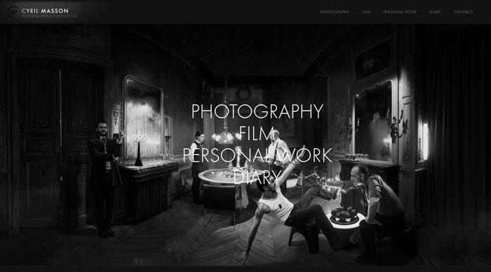 cyrilmasson.com Typography based website design
