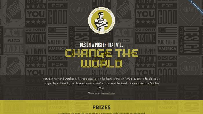 designforgoodbham.com Typography based website design