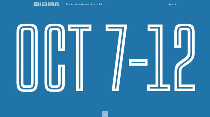 designweekportland.com Typography based website design