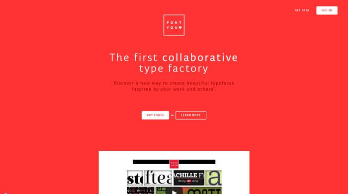 fontyou.com Typography based website design