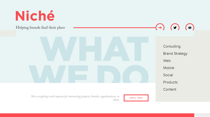 helloniche.com Typography based website design