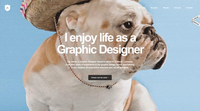 janne.me Typography based website design