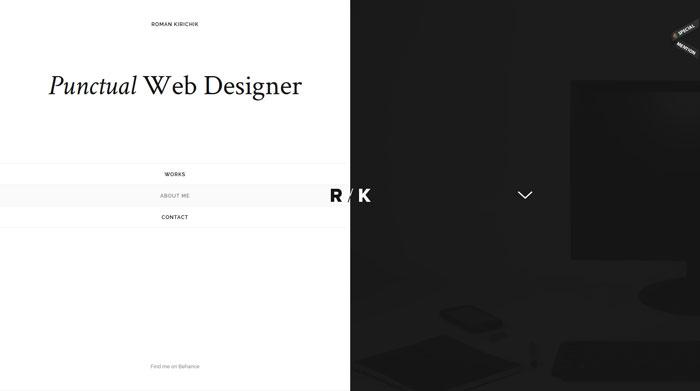 kirichik.com Typography based website design